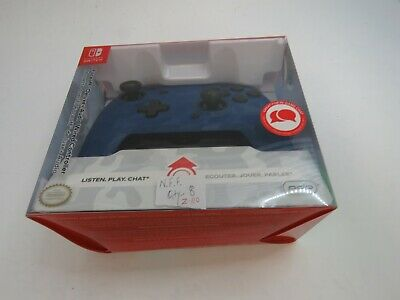 $ CDN4.33 • Buy PDP Nintendo Switch Faceoff Deluxe+ Audio Wired Controller - Blue Camo