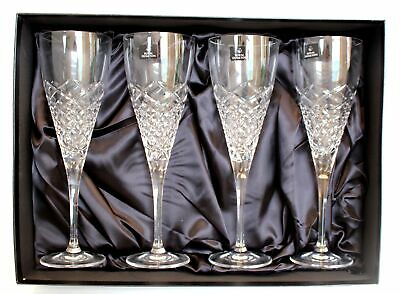 4x ROYAL DOULTON CRYSTAL GLASS Wine Goblets BOXED - E25 • 5.50£