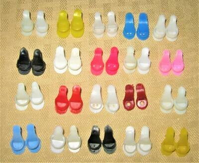 $ CDN48.36 • Buy Vintage Barbie Clone 4 Clothes Red Black Pink White Blue Soft Open Toe Shoes Lot