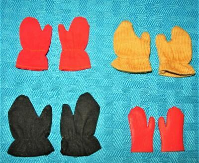 $ CDN36.22 • Buy Vintage Barbie Ken 4 Clothes Or Fashion Red Black Mustard Yellow Gloves Lot!