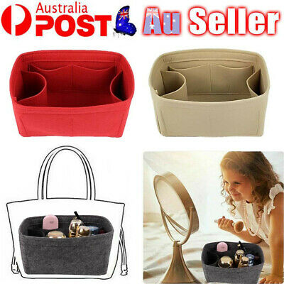 AU12.69 • Buy Travel Organiser Handbag Felt Bag Tote Insert Liner Purse Pouch Women Storage AU