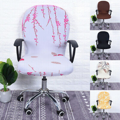 AU10.69 • Buy Office Study Armchair Computer Swivel Rotating Chair Cover Protector Polyester
