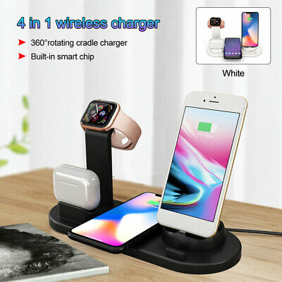 AU20.45 • Buy 4 In 1 Wireless Charging Station Dock Charger For Apple IWatch IPhone Samsung