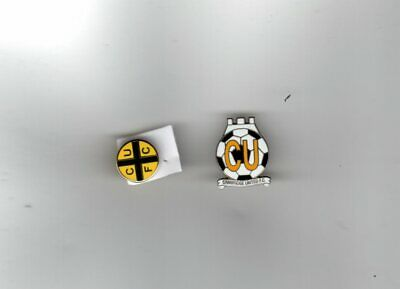 £4.95 • Buy CAMBRIDGE UNITED F.C. Enamel Badge Collection 2 Pins New Different POST FREE UK