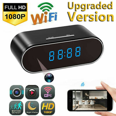 View Details HD 1080P Spy Camera WiFi Hidden Wireless Night Vision Security Nanny Cam Alarm • 35.98£