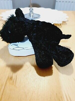 £4.95 • Buy Tesco Chilly And Friends Black Plush Scotty Dog Scamp 8  Rare Retired Teddy