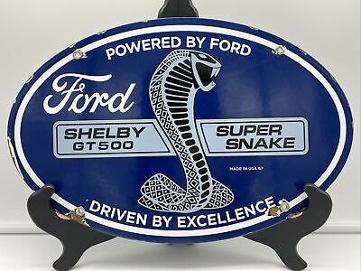 $ CDN19.96 • Buy VINTAGE ''FORD SHELBY GT 500'' GAS & OIL PLATE 15x10 INCH PORCELAIN SIGN