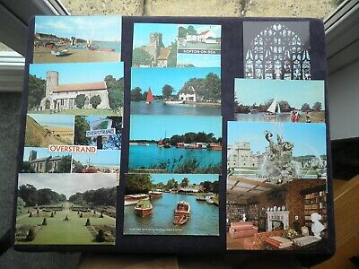 12 Postcards Of Norfolk, Hopton-on-sea, Overy Staithe Overstrand, Ranworth Broad • 3.99£