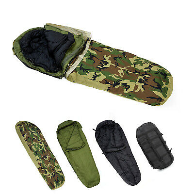 $229.99 • Buy Army Military Modular Sleeping Bags System Multi-layer With Bivy Cover Woodland