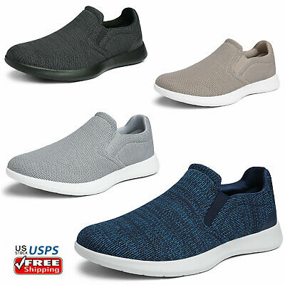 $27.25 • Buy Mens Slip On Casual Shoes Comfort Knit Loafers Walking Shoe Size 6.5-13