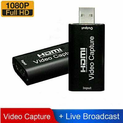 £4.99 • Buy HDMI Video Capture Card USB 2.0/1080p HD Recorder For Video Live Streaming/Game