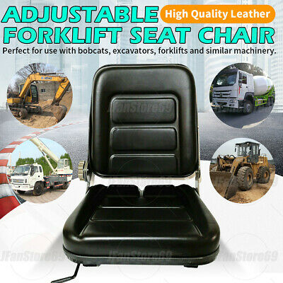 AU63.50 • Buy Forklift Seat Chair Adjustable Leather Bobcat Tractor Excavator Machinery AU