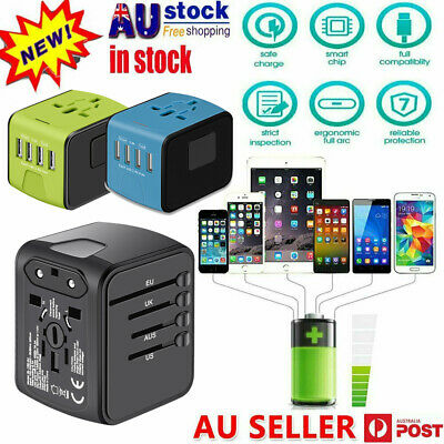 AU14.72 • Buy 4 USB Part  Universal Travel Adapter All-In-One International Travel Charger