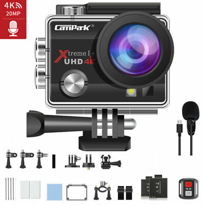 £34.90 • Buy 4K Action Camera 20MP WiFi EIS Camcorder DV Sports Cam Waterproof 40M+Microphone