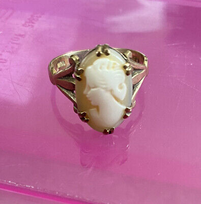 £39.99 • Buy Vintage 9ct Gold Cameo Ring Size L