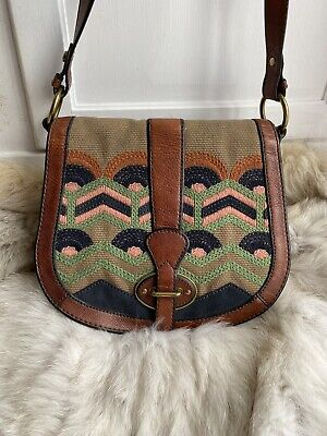 $ CDN72.56 • Buy Fossil Embroidered Reissue Leather Shoulder Crossbody Handbags