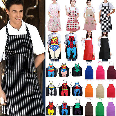 $8.92 • Buy Unisex Adult Waterproof Kitchen Apron For Chefs Butcher BBQ Cooking Baker Aprons