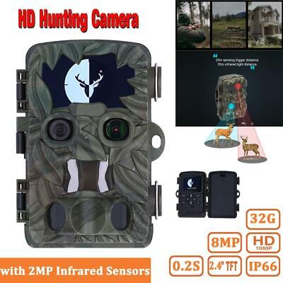 £79.99 • Buy Hunting Camera Wildlife Portable IP66 Scouting Camera With 2MP Infrared Sensors