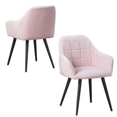£21 • Buy 2Pcs Luxury Velvet Dining Chairs Living Room Chairs With Armrest Counter Chair