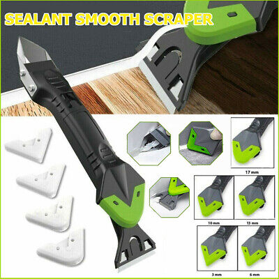 £3.95 • Buy 5 In 1 Silicone Remover Caulk Finisher Sealant Smooth Scraper Grout Kit Tool Set
