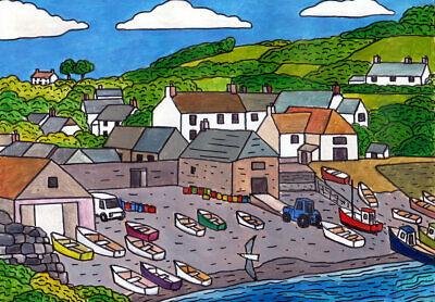 £15 • Buy  Cadgwith Cove    Cornwall/Cornish Art