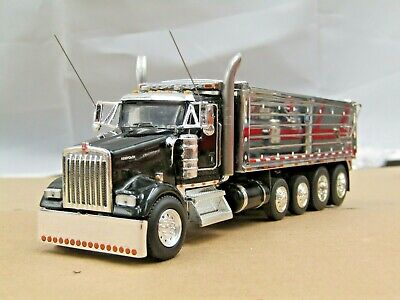$ CDN200.85 • Buy Dcp Custom Black Kenworth W900L Daycab Quad Axle MAC Dump Truck No Box 1/64