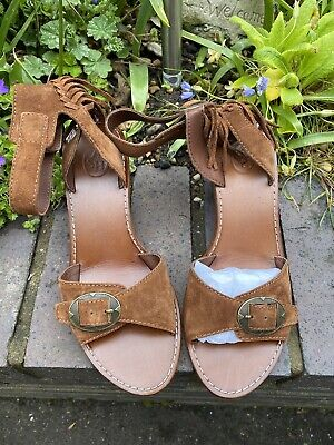 £65 • Buy All Leather ASH Ladies Brown Tassels Open Toe Shoes Size 38 Uk5 RPR£185