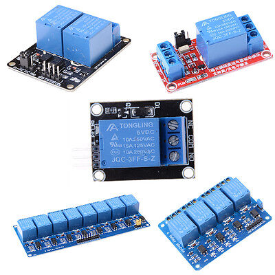 AU7.14 • Buy 5V 1/2/4/8 Channel Relay Board Module Optocoupler LED For Arduino PiC ARM A V8_A