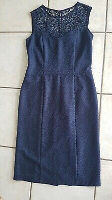 AU5.08 • Buy Next Navy Blue Fitted Evening Cocktail Party Dress Size 12