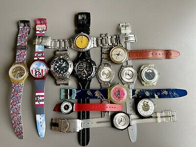 $ CDN9.07 • Buy Vintage Swatch Lot - Automatic & Quartz For Parts Or Repair Only - Not Tested