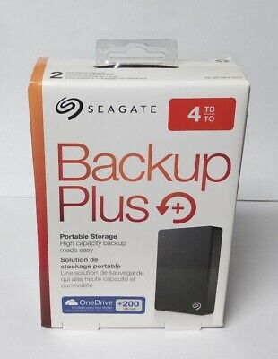 AU115.84 • Buy Seagate Backup Plus 4TB USB 3.0 Portable 2.5 In External Hard Drive BLACK
