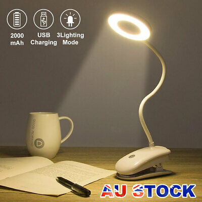 AU18.95 • Buy USB Flexible Clamp Clip-On LED Light Reading Table Desk Bed Bedside Night Lamp