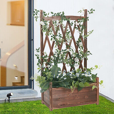 £35.99 • Buy Large Raised Bed Garden Planter Vegetable Grow Bed Herb Flowers Box 106x106x20cm