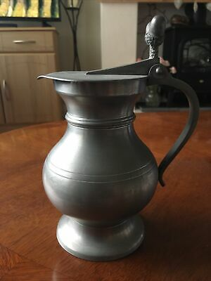 £11 • Buy Vintage Pewter Jug Etain Of France With Acorn Finials 20cm Tall