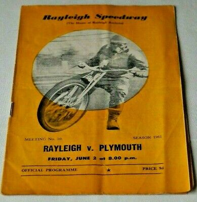 £5.99 • Buy RAYLEIGH V PLYMOUTH 1961 RARE  GOOD CONDITION  - FREE POSTAGE!!