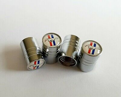 AU11.99 • Buy Ford Mustang Wheel Valve Stem Caps / Tyre Cap - Set Of 4 - Stainless - Free Post
