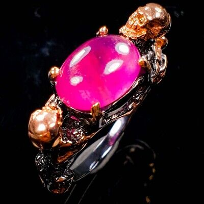 £11.35 • Buy Fashion Art Design Ruby Ring Silver 925 Sterling  Size 8.25 /R152291