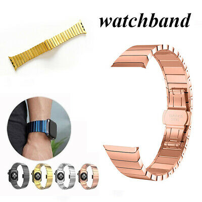 $ CDN14.98 • Buy For Apple Watch Series 6/5/4/3/2 Stainless Steel Strap IWatch Band Stainless