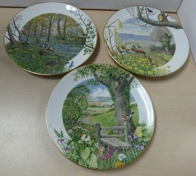 £8.95 • Buy 3 Royal Worcester Franklin Ltd Edition Collectors Plates March April May Y21 C18