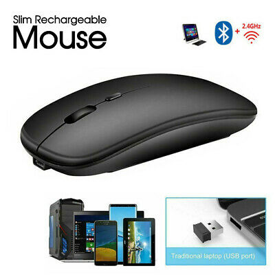 AU11.95 • Buy Optical Wireless Bluetooth 5.1 Slim Rechargeable Mouse For Laptop, Mac,iPad