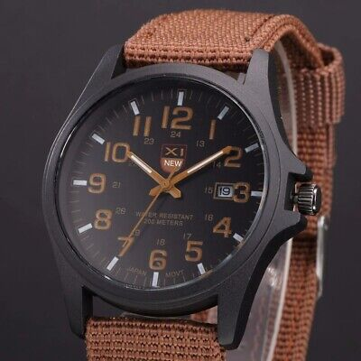 $ CDN1.20 • Buy Men's Quartz Watch Waterproof Outdoor Sports Wristwatches Mens