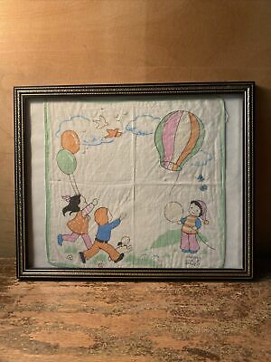 £11.99 • Buy Mabel Lucie Atwell Vintage Child's Handkerchief In Frame