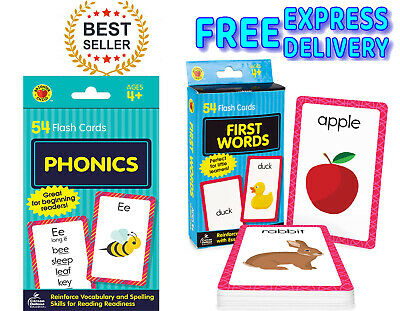 £4.99 • Buy Children's Flash Cards Kids Educational Pre School Learning Brighter Child Gift