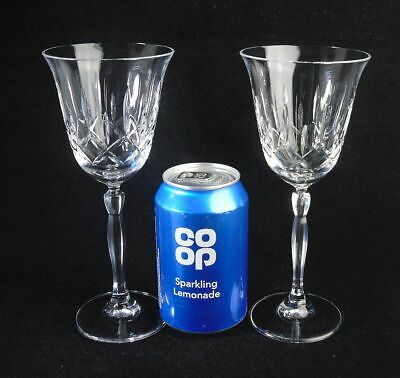 £12.99 • Buy Pair Of Gleneagles Crystal SOLWAY MODERN CLASSIC Tall Wine Goblet Glasses 8 H