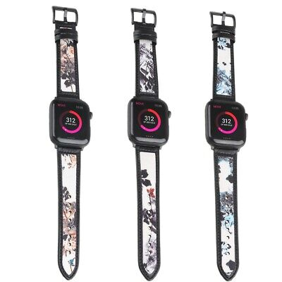 $ CDN18.98 • Buy Printed Leather Band Strap Replacement For Apple IWatch 6 5 4 3 2 38/40/42/44mm