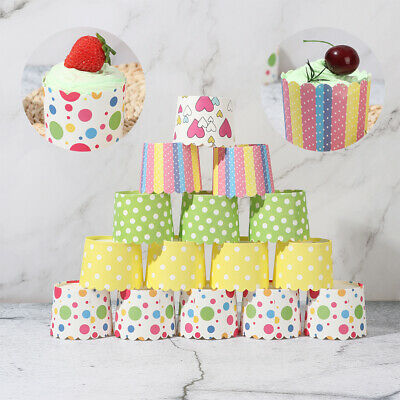 £4.97 • Buy 50Pcs Baking Cups Cupcake Wrapper Cases Baking Tools Wedding  Party Supplies
