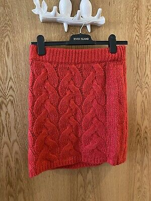 £1.20 • Buy Missguided Pink Cable Knit Mini Skirt Size UK 8