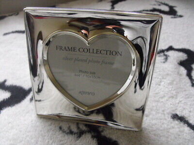 £10 • Buy Kenro Silver Plated Heart Shaped Photo Frame New In Box Wedding Gift Love