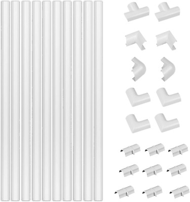 £16.95 • Buy D-Line White Medium Trunking Kit 4-Meter Self-Adhesive Wire Hider Cable