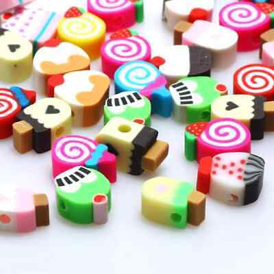 £4.50 • Buy Ice Lolly, Cupcake, Dessert Polymer Clay Beads, 10mm Beads Jewellery Making Cake